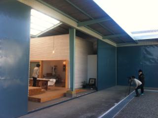 小松島のアトリエ、取材でした。
