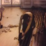 「床に鉋をかける人々」